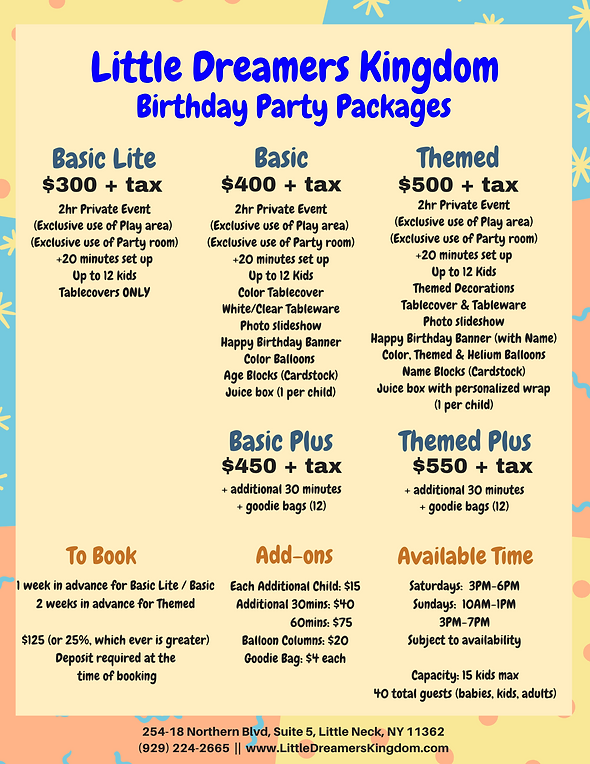 Copy of Copy of Birthday Packages test.p