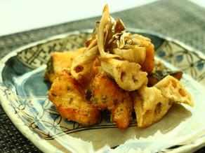 冬が旬のお魚料理【鱈とレンコンの唐揚げ磯風味】作り方