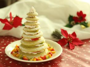 家族と楽しむクリスマスごはん【ツリータワーホットケーキ】作り方