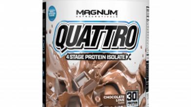 copy of Magnum 4.5lb Quatro Protein Powder