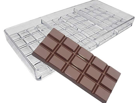 60g Hard Polycarbonate Chocolate Bar Mold
