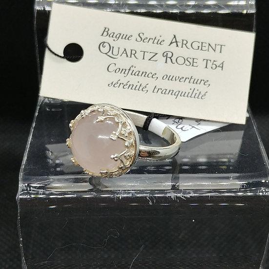 Bague Ronde - Quartz Rose