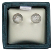 Boucles d'oreilles perles de cristal de roche - 6 mm