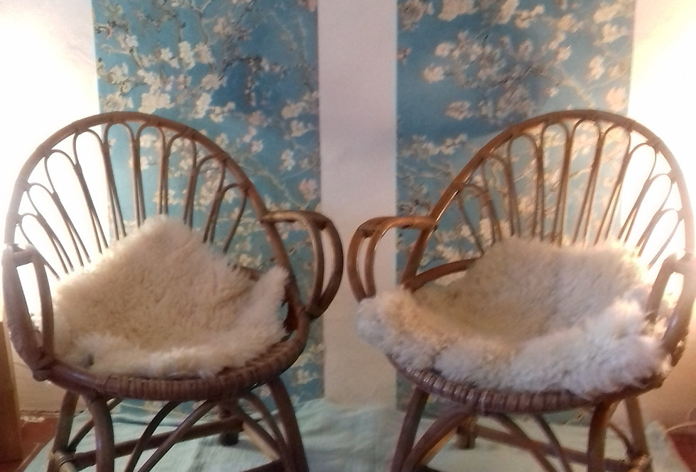 2 fauteuils rotin