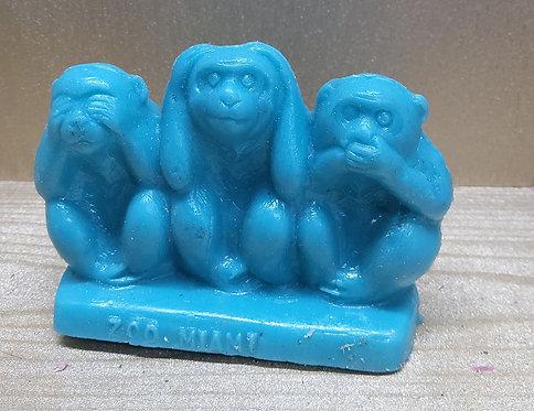 3 Monkeys - Zoo Miami - Blue