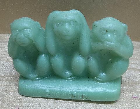 3 Monkeys - Zoo World - Green