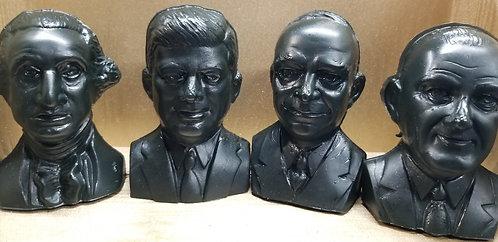 President Busts,Ben Franklin,Barry Goldwater - Black