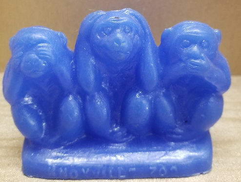 3 Monkeys - Knoxville Zoo - Blue