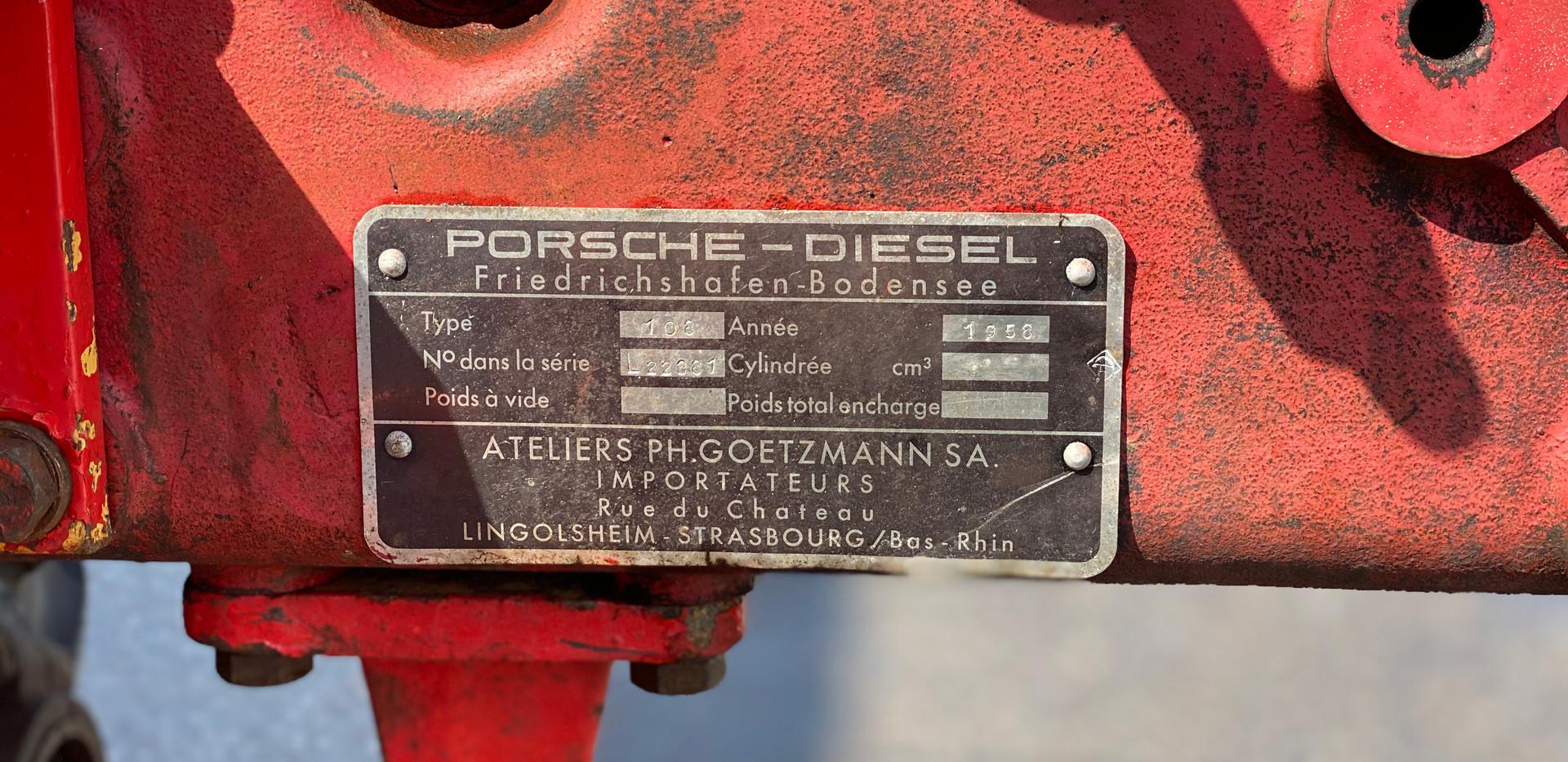 Porsche-Diesel Junior 108L 1958