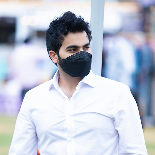 Nanofiber Filter Face Mask Black