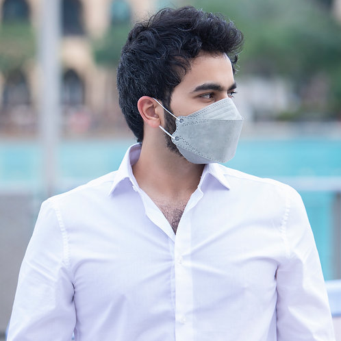 Nanofiber Filter Face Mask Gray