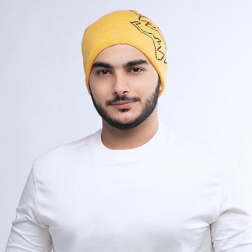 قبعة شتاء صفراء