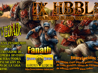 IX HBBL - Habemus Blood Bowl League (2-OCT-2021)