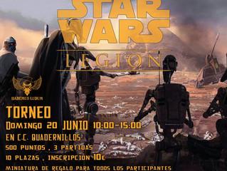 I TORNEO STAR WARS LEGION ESCARAMUZAS (20-JUN-2021)