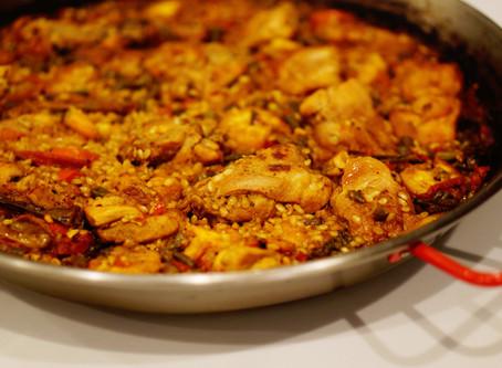 chicken & shrimp paella
