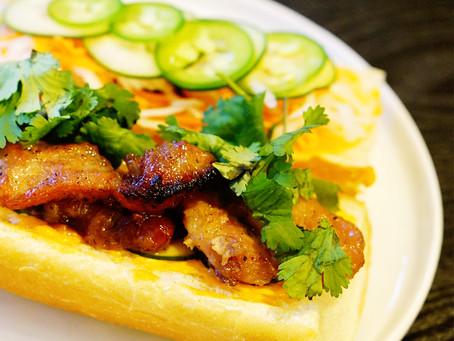 pork bahn mi sandwich