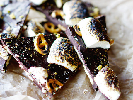 salty sweet s'mores bark