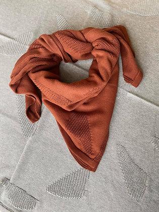 EIRA scarf/baby blanket rust