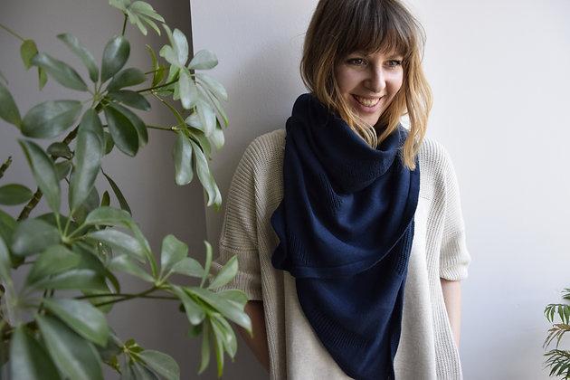 EIRA scarf/ baby blanket blue