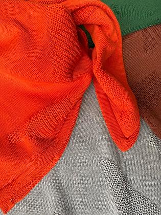 EIRA scarf/baby blanket carota