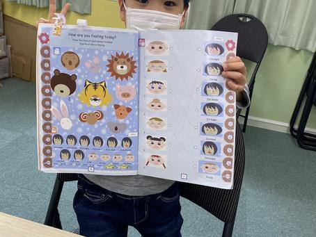 幼児クラス、初のリスニングテスト