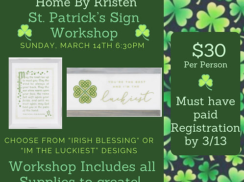 St. Patrick's Day Workshop