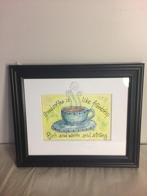 Good Coffee Framed Print