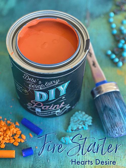 Debi's Design Diary DIY Paint - Firestarter