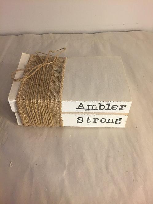 Ambler Strong Book Stack