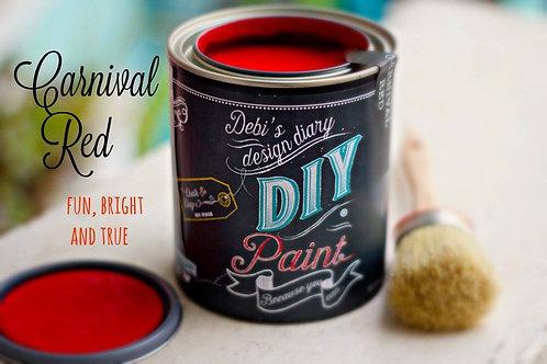 Debi's Design Diary DIY Paint -Carnival Red
