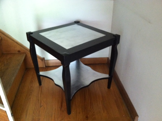 black and silver side table 2