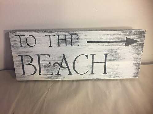 To the Beach Reclaimed Wood Sign