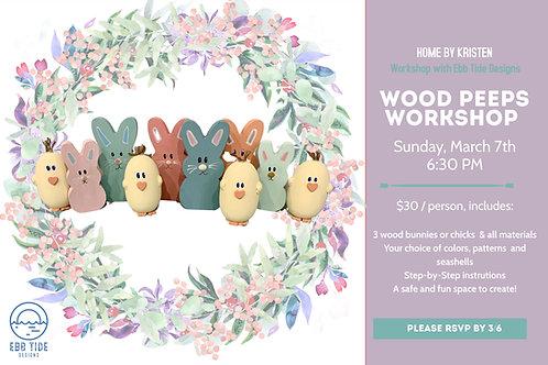 Sunday Peeps Workshop Admission
