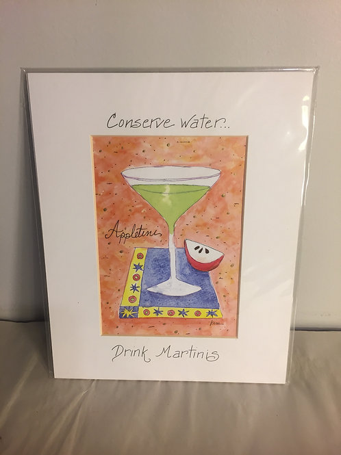 Conserve Water Matted Print