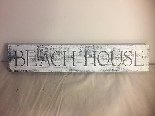 Beach House Reclaimed Wood Sign