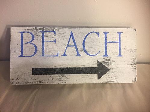 Beach Reclaimed Wood Sign