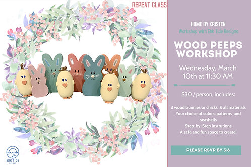 Wednesday Peeps Workshop Admission