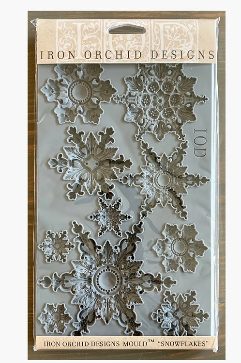 Iron Orchid Designs Snowflakes Mould