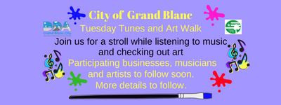 Tunes & Art Walk- Accepting Artist Exhibitors for Grand Blanc