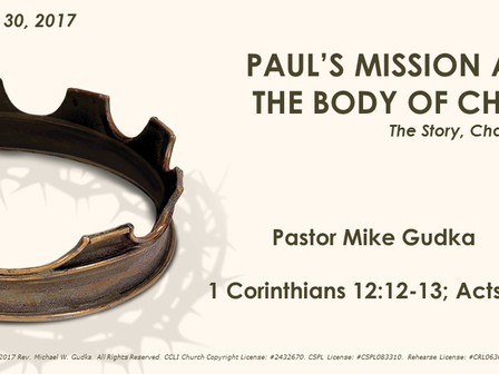 Paul's Mission and the Body of Christ