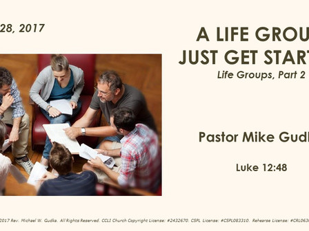 A Life Group - Just Get Started!