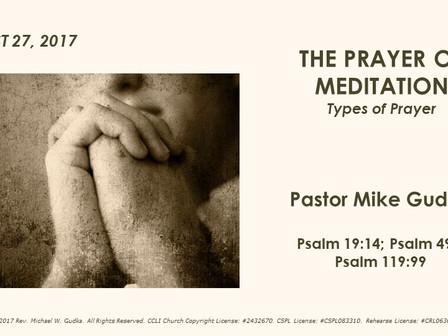 The Prayer of Meditation