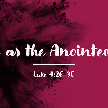 Jesus As the Anointed One