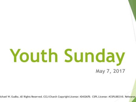 Youth Sunday 2017