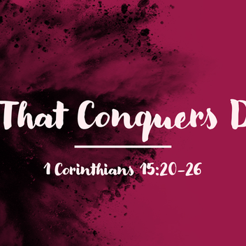 Love That Conquers Death