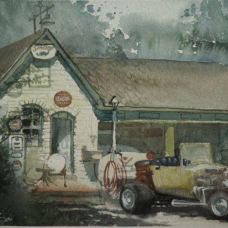 This old Garage, 11x14