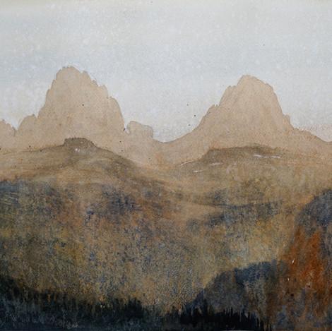 Tetons at dusk, 13x19