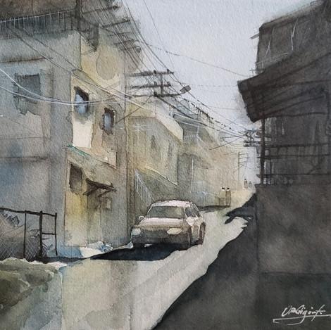 A street in kadifekale 2, 11x14