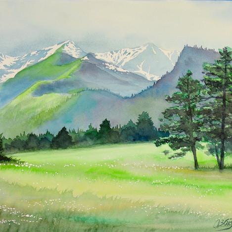 Colorado Landscape 4, 10x14