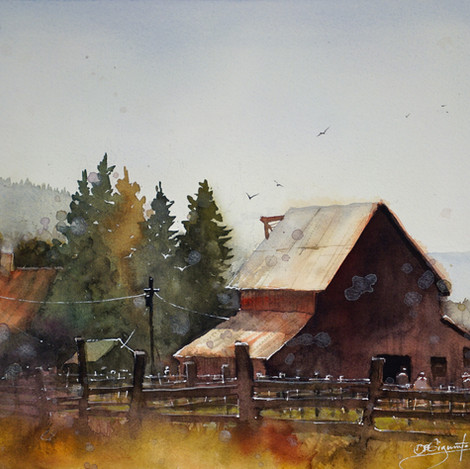 The Red Barn, 11x14